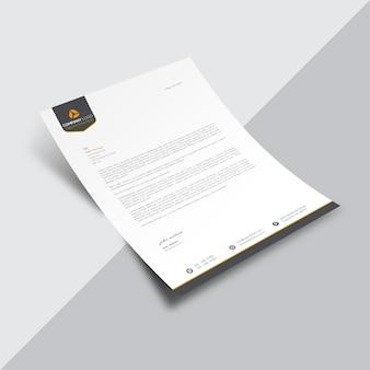 Document commercial blanc avec logo