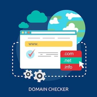 Domaine internet checker fond