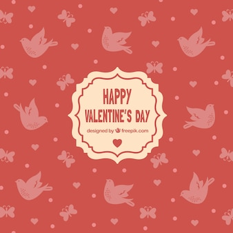 Dove valentine day background