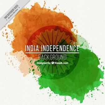 Drapeau indien couleur éclaboussure