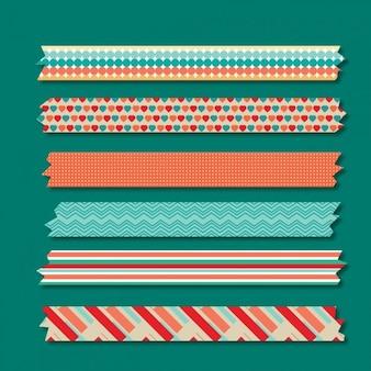 échantillons de motifs colorés