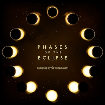 Eclipse phases arrière-plan