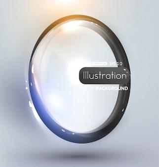 Effet bannière belle lumière transparente