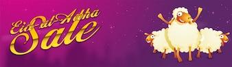 Eid-Al-Adha Sale conception de bannière de médias sociaux.