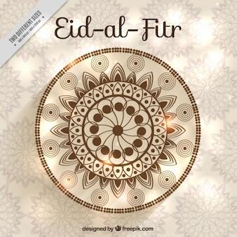 Eid ornemental al fitr fond