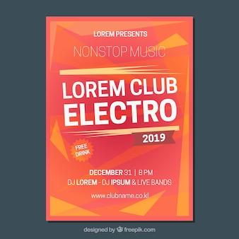 Electro partie brochure abstraite