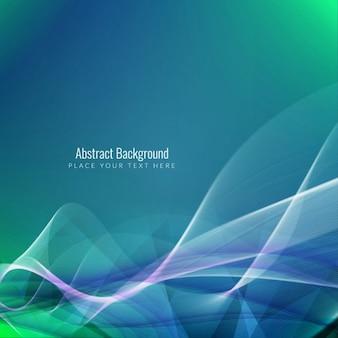 Elegant background avec des vagues dynamiques
