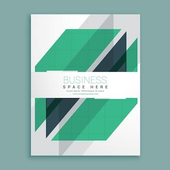 élégant design blanc brochure avec des formes géométriques vert