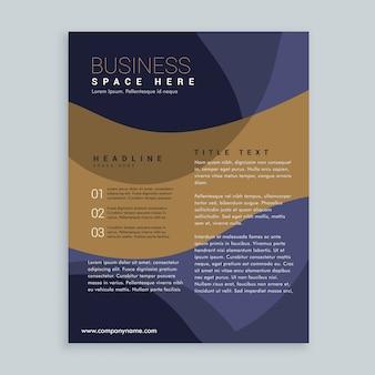 élégant design dépliant brochure brun et bleu en format A4