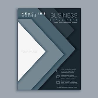 élégant design minimaliste brochure dépliant d'affaires