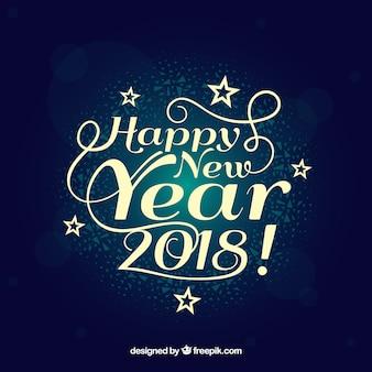 Élégant et heureux nouvel an