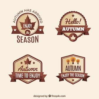 Elegant étiquettes d'automne