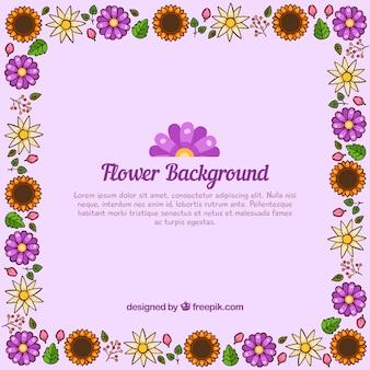 Élégant fond floral pourpre