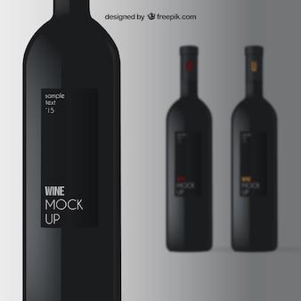 Elégante maquette du vin