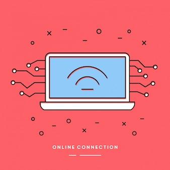 Élément vecteur linéaire de connexion en ligne