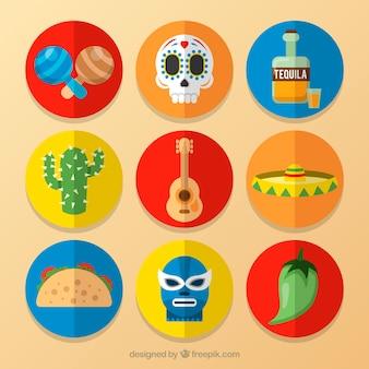 Éléments créatifs du Mexique