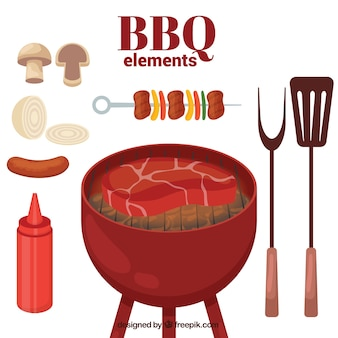 Éléments de barbecue emballent