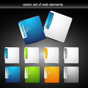 Eléments de conception en style de couleur différent avec espace pour votre texte