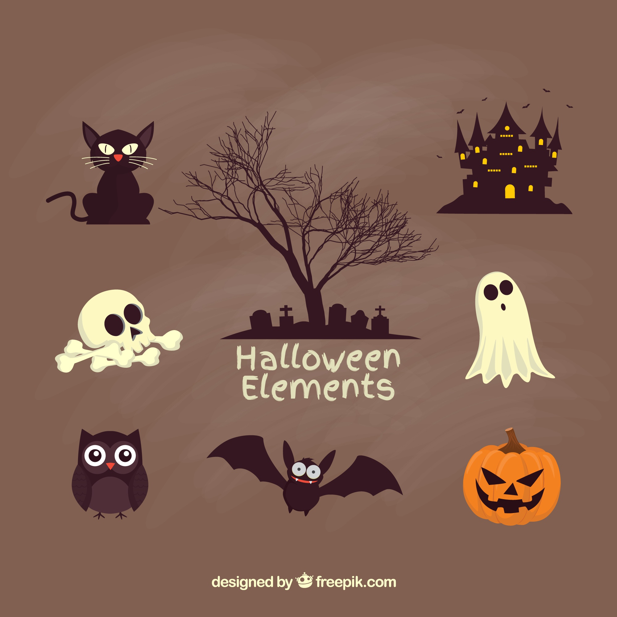 Éléments de halloween Creepy