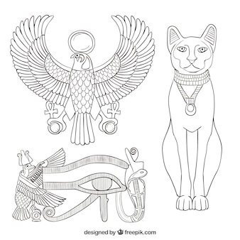 Éléments de l'ancienne egypte