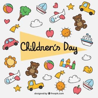 Éléments de la journée pour les enfants