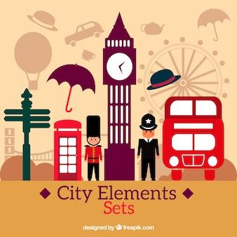 Éléments de la ville de Londres