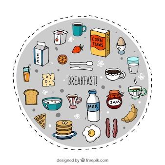 éléments de petit-déjeuner