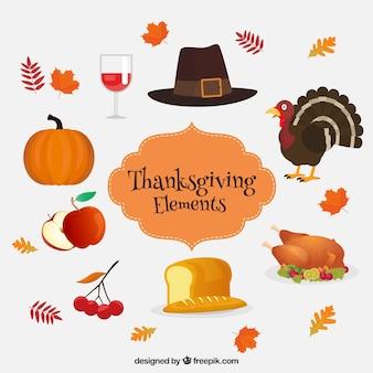 Éléments de thanksgiving traditionnels