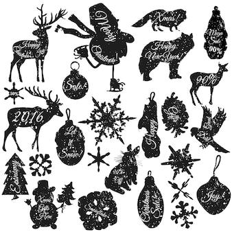 éléments décoratifs de Noël