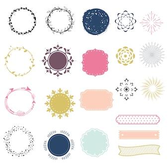 Éléments décoratifs multicolores