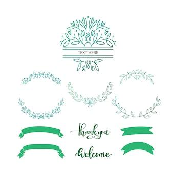 éléments décoratifs verts