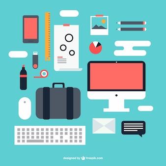 éléments graphiques kit de bureau de vecteur