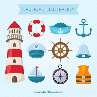 Éléments nautiques emballent