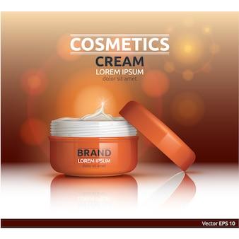 Emballage à la crème cosmétique