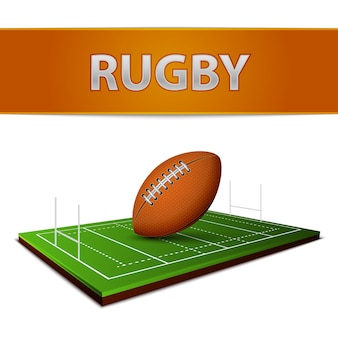 Emblème de balle de football ou de rugby