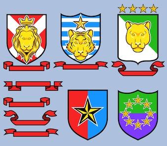 Emblème royal royal du grand chat d'or