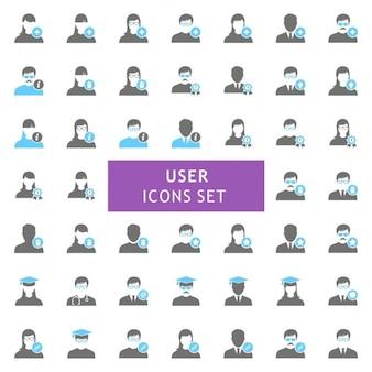 Emplois utilisateur icon set