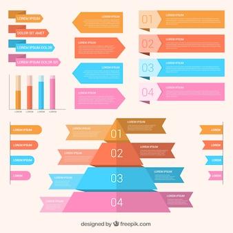 Emportez avec la variété d'éléments infographiques