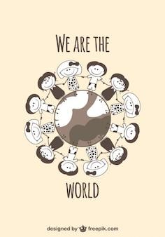 Enfants sur le glob