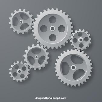 Engrenages gris