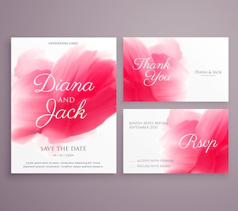 Enregistrez la date carte d'invitation de mariage avec un trait de peinture sur fond d'écran