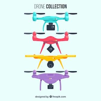 Ensemble coloré de drones modernes