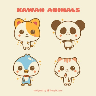 Ensemble d'animaux Kawaii
