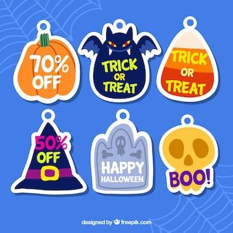 Ensemble d'autocollants de réduction Halloween