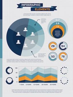 Ensemble d'éléments d'infographie vintage