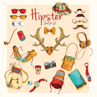 Ensemble d'esquisse Hipster