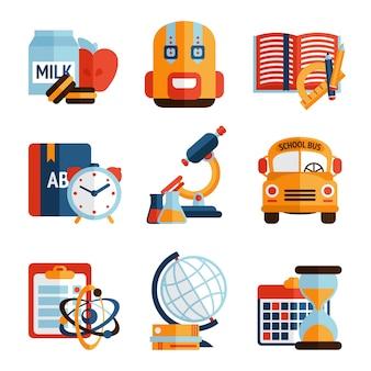 Ensemble d'icônes d'éducation