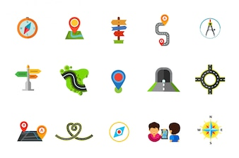 Ensemble d'icônes d'emplacement