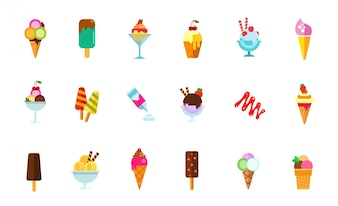 Ensemble d'icônes de nourriture sucrée
