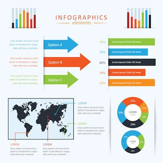Ensemble d'infographies vectorielles